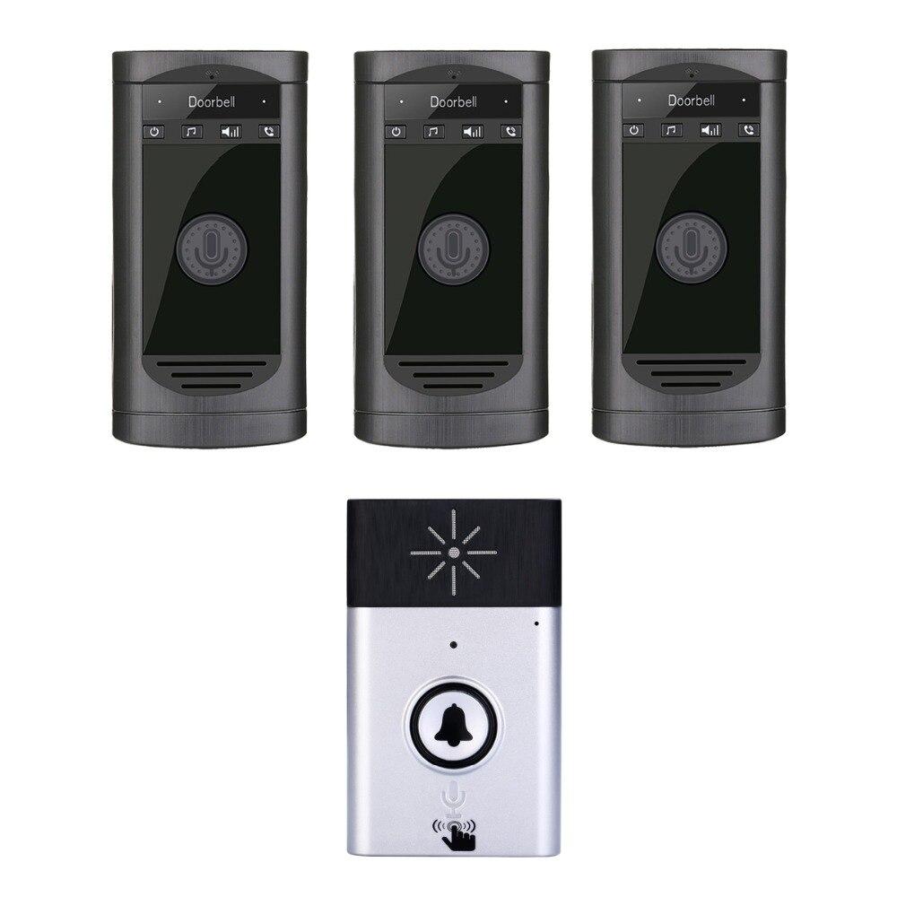2.4Ghz Wireless Long Distance Two Way Intercom Doorbell With 3 Indoor door Phone 2.4Ghz Wireless Long Distance Two Way Intercom Doorbell With 3 Indoor door Phone
