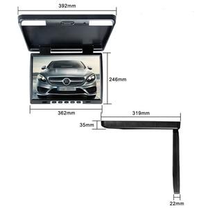 Image 5 - XST moniteur vidéo rabattable sur le toit de voiture, écran vidéo HD 15.4 P de 1080 pouces, lecteur MP5, Support USB, carte SD, émetteur infrarouge et FM
