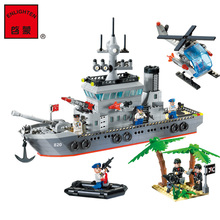 model building kits compatible with lego city warship 613 3D blocks Educational model & building toys hobbies for children