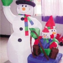 Надувной Рождественский Санта-Клаус Снеговик Декоративный Рождественский олень для дома детские игрушки надувные рождественские игрушки