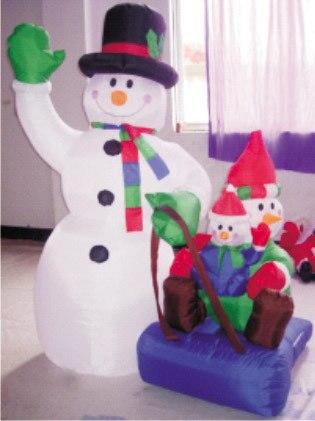 Надувной Рождественский Санта Клаус Снеговик Декоративный Рождественский олень для дома детские игрушки надувные рождественские игрушки