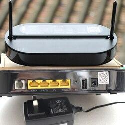 100% original novo hua wei hs8145v 4ge 1 voz banda dupla 2.4g 5g wifi gpon onu modo ftth, roteador de rede de fibra gpon termina