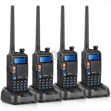 New 4pcs Upgraded Version of UV-5R BAOFENG UV-5X UHF+VHF Two-Way Radio Walkie Talkie with Original Custom Desigh Mother Board