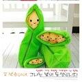 1 Pcs 20 cm crianças bebê brinquedos de pelúcia bonito Pea Stuffed boneca planta encantador feijão brinquedos sorriso Kawaii Emoji Gift Kids # ML0115