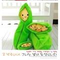 1Pcs 20cm Kids Baby Plush Toys Cute Pea Stuffed Plant Doll Lovely Beans Toys Smile Kawaii Emoji Kids Gift #ML0115
