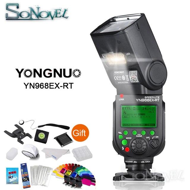 Yongnuo YN968EX RT HSS E TTL אלחוטי פלאש Speedlite עבור Canon 850D 800D 760D 750D 80D 77D 7D 5DS 600EX RT YN E3 RT YN 600EX RT