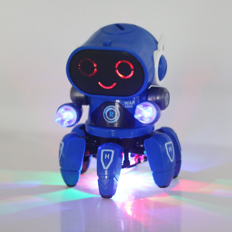 [Funny] Very Cute Animal Electronic Pet Light Music Dance Octopus Robot Toy Walking Sound Sea Life Doll Kids Baby Gift