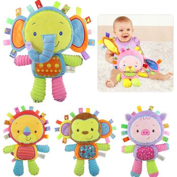 8 stylów zabawki dla niemowląt 0-12 miesięcy Appease dzwonek miękki pluszowy edukacyjne zabawki dla niemowląt dzieci grzechotki dla dzieci telefony komórkowe skrzypiąca zabawka wydająca dźwięki tanie i dobre opinie Kidsbele Pluszowe CN (pochodzenie) Unisex TOYB184 3 lat 13-24 miesięcy Zwierząt Oddziela SOFT Nadziewane (H)12 99inch*(W)7 87inch