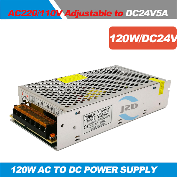24V 5A 120W Switching Power Supply Driver for LED Strip AC100-240V Input to DC24V Output, AC to DC power supply power adapter