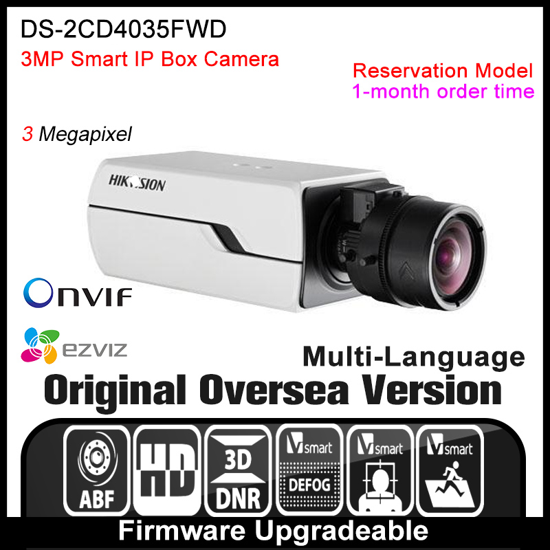 Hikvision  DS-2CD4035FWD Original English Version IP camera 3MP security camera CCTV camera P2P ONVIF POE indoor HD H265 hikvision ds 2ae5123t a original english version 2mp ptz ip camera cctv security camera surveillance poe onvif 4k hd network