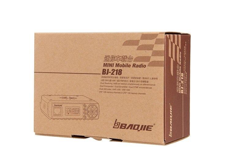 Baojie BJ-218 Mini Voiture Talkie Walkie 10 km 25 w Double Bande VHF/UHF 136-174 mhz 400 -470 mhz 128CH Mini Mobile De Voiture Radio Émetteur-Récepteur - 6