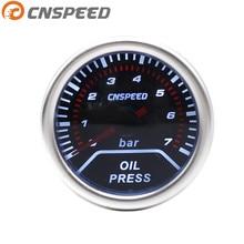 """CNSPEED 12 В """" 52 мм автоматический датчик давления масла 0-7 бар Универсальный дымовой объектив белый светильник измеритель давления масла"""
