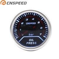 Free Shipping Oil Press Gauge 2 52mm Oil Pressure Gauge 0 7 Bar SENSOR SMOKE LEN