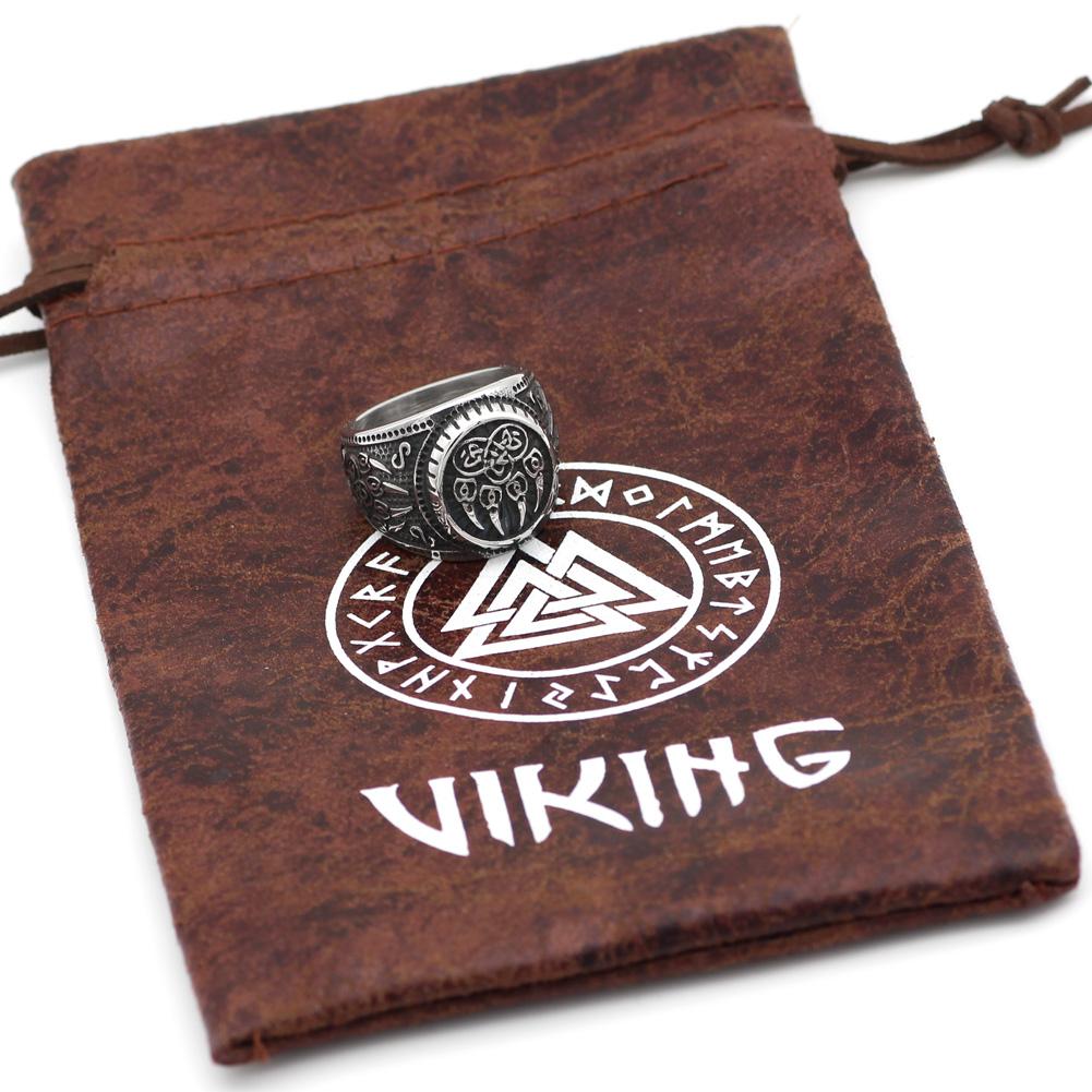 STAINLESS STEEL VIKING WOLF PAW RING