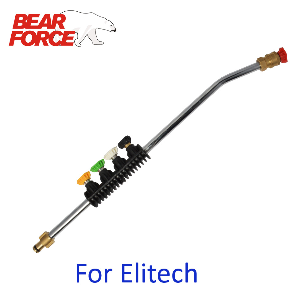Pressure Washer Wand Tip Car Cleaning Metal Jet Lance Spear Nozzle with 5 Quick Nozzle Tips for Elitech