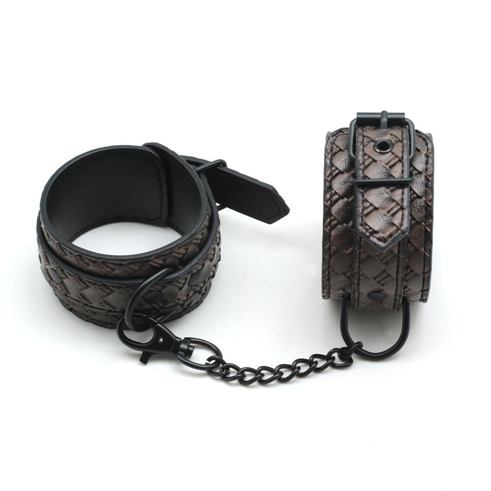 Soft Pu Leather Handcuffs Restraints Sex Bondage Ankle -5144