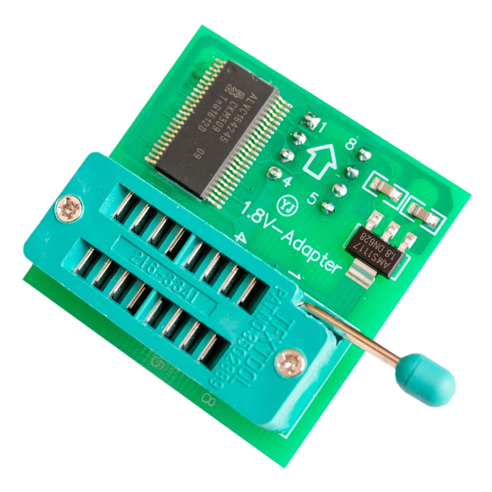 1.8v adaptador para iphone ou placa-mãe 1.8v spi flash sop8 dip8 w25 mx25 uso em programadores tl866cs tl866a ezp2010 ezp2013 ch341