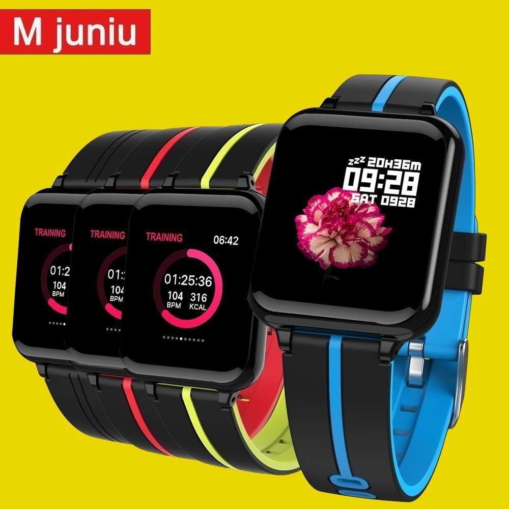 B57 Women Smart watches Waterproof Sports For phone Smartwatch Heart Rate Monitor Blood Pressure Functions  clock