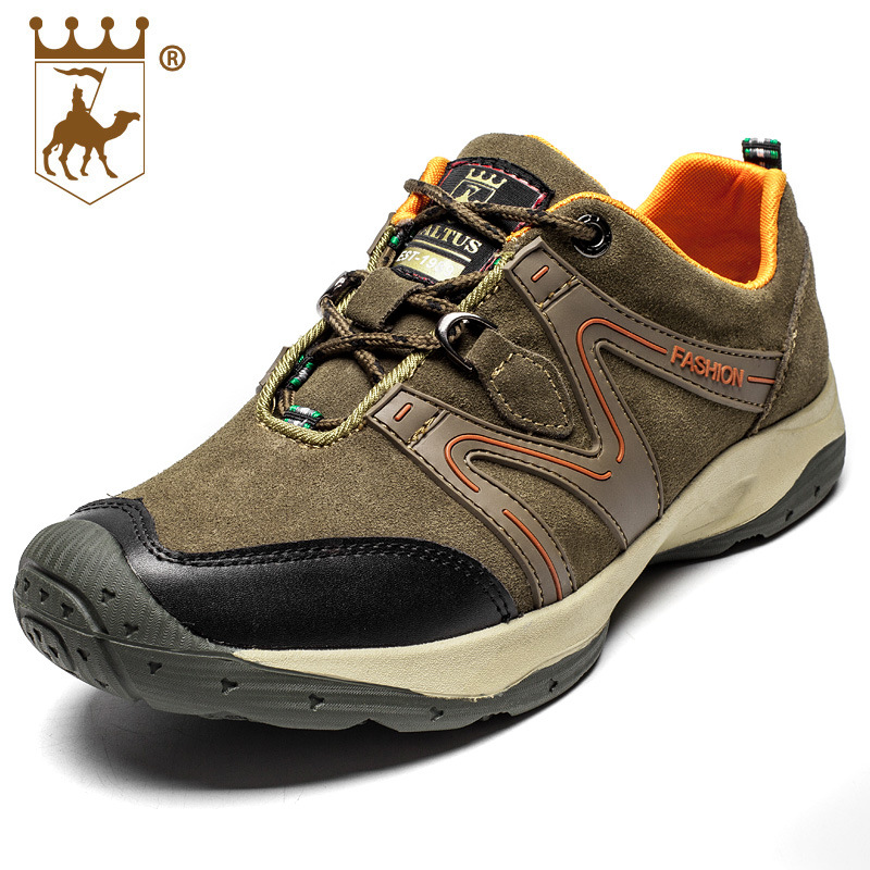 BACKCAMEL Men's Shoes Outdoor Top Quality Genuine Leather Shoes Casual Sneakers Lightweight Breathable Climbing Hombre Shoes