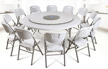hdpe plstico plegable mesa redonda de comedor para restaurante del hotel casa y al aire libre