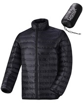 Men's Light Down Jacket Ultralight Packable Travel 90% Duck Down Feather  Filled Winter Quilted Coat Short Plus Size Warm