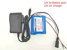 VariCore 12 V 3000 mAh 18650 Li-ion Rechargeable battery Pack for CCTV Camera 3A Batteries+ 12.6V 1A Charger(China)
