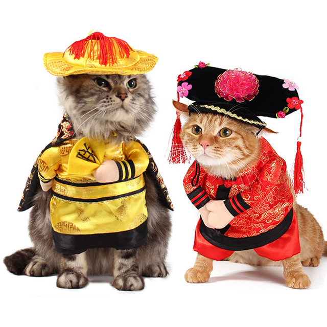Funny Pet Costume The Chinese Princess With Headdress Halloween Cosplay  Clothes For Dogs Cat Clothing Christmas - Funny Pet Costume The Chinese Princess With Headdress Halloween