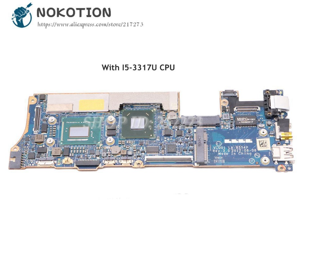 NOKOTION Laptop Motherboard For HP Spectre XT13 XT 13-2000 MAIN BAORD 689957-001 689957-501 VCU01 LA-8554P I5-3317U CPU 4GB