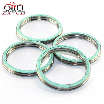 4 PCS FOR YAMAHA YT125 DT175 MX175 RD/TZR/YT/DT/MX/TY/RT 125 RD125LC TZR125 1987  TY175 RT180 Exhaust Pipe Header Gasket