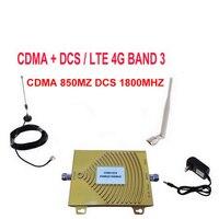 Vollen Satz Dual Band DCS 1800 MHz CDMA 850 Mhz Signal Repeater Handy Signal Booster DCS CDMA Signalverstärker 4G FDD booster