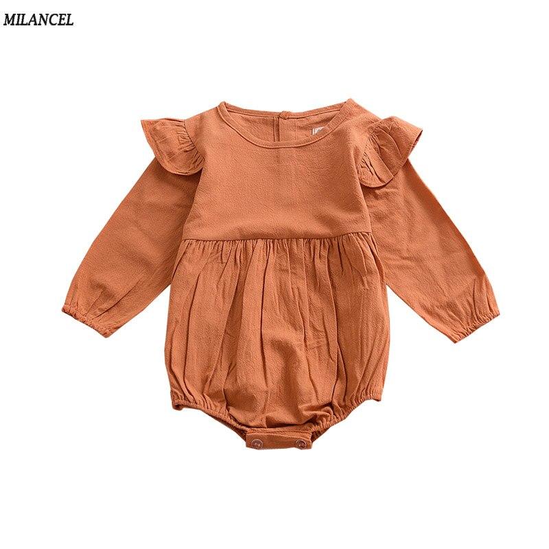 Milancel 2017 rompertjes pasgeboren peuter baby meisjes flare mouw - Babykleding