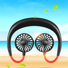 Portable Mini USB Fan Flexible Hang Neck Rechargeable Fans 360 Degree Rotation Sport for Summer Home Office Fitness