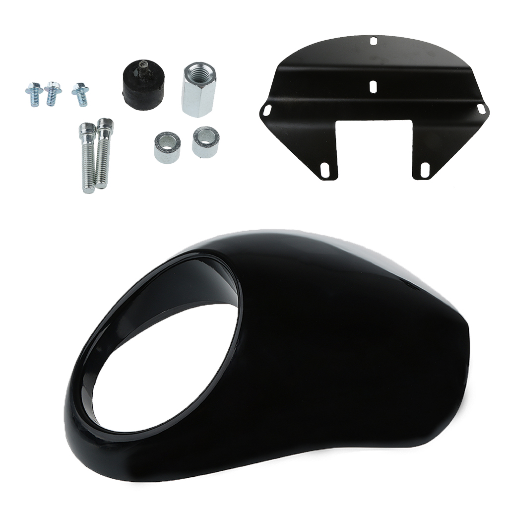 Black Plastic Motorcycle Headlight Front Visor Fairing For Motorcycle Accessories Parts