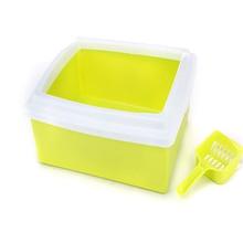 Products Large Cat Litter Toilet Box Tray Shovel Plastic Cat House Basins Sand Scoop Hamster Caja Arena Gato Pet Toilets 80M0055