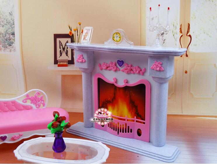 Livraison gratuite fille en plastique anniversaire Play Set meubles - Poupées et accessoires - Photo 2