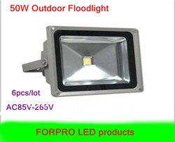 6 sztuk 50 W reflektory LED ciepły biały zimny biały AC85 265V wodoodporna led flood światła lampa zewnętrzna darmowa wysyłka|light purple|light auburnlamp import -