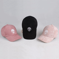 Drop Shipping Aliens Outstar Saucer Space E T UFO Fans Black Fabric Baseball Cap Hat For