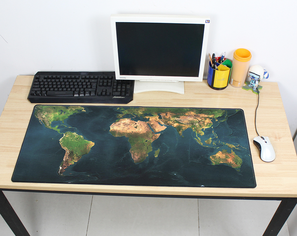 Gaming Mousepad World Map 900x400mm DIY XL Large Mouse Pad Gamer With Edge Locking Pc Accessories Laptop Padmouse Ergonomic Mat
