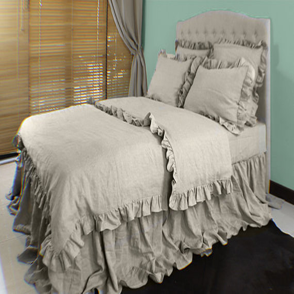 linen duvet cover queen Ruffled Washed Pure Linen Duvet Cover Queen French Flax Linen  linen duvet cover queen