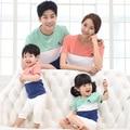 Família roupas família algodão de mãe / mãe e filha roupas pai e filho roupas roupas família Set HP77