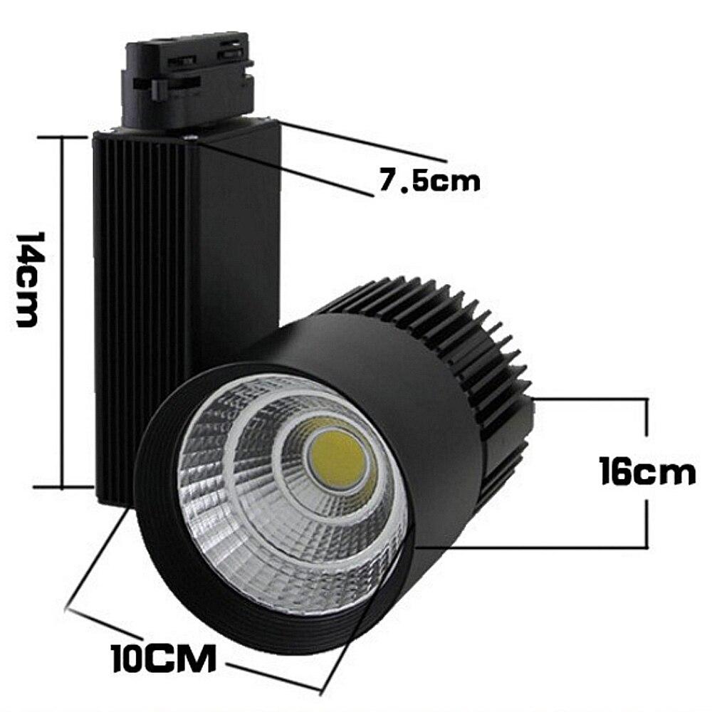 LED Schienenlicht 30 Watt COB Schiene leuchtet Track Beleuchtung 130 ...