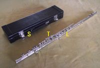 Advanced flute silver plate 16 open hole c key