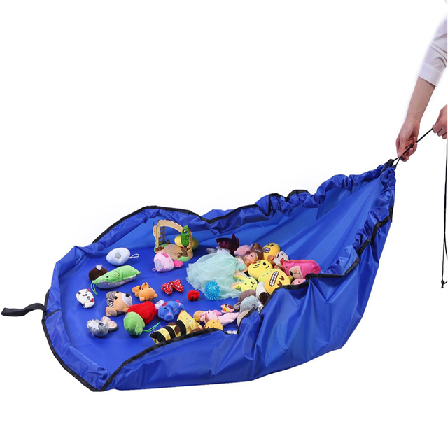 New Portable Kids Toy Storage Bag and Play Mat Lego Toys Organizer Drawstring Pouch Practical 3