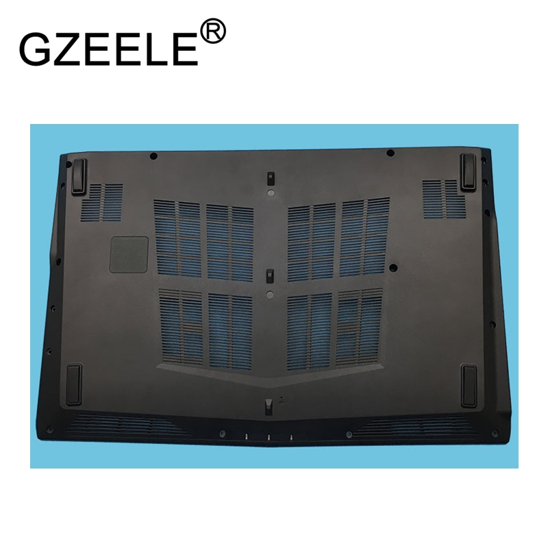 GZEELE New laptop Bottom Case Housing Base For MSI GL62 GP62 GP62M GP62MVR lower cover black Bottom Base Case Cover new original for lenovo thinkpad x240 x240i base cover bottom case 04x5184 0c64937