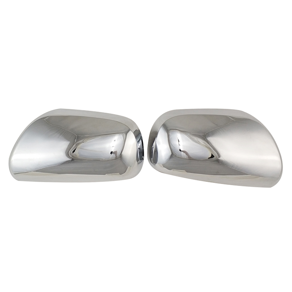 2pcs ABS Chrome Car Side Door Rear View Mirror Cover For Toyota Yaris 2003-2006 Wish 2003-2007 <font><b>Prius</b></font> 2003-2008 image