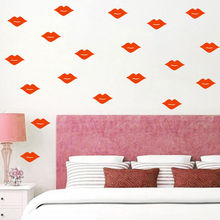 36 PCS Lips Pattern Adhesive Wall Decal Home Self Removable Stickers Baby Girls Kids Bedroom Wall Sticker Bedding Decor SYY142 недорого