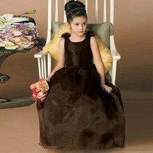 Vestido De Comunion Jewel Neck Backless mit Bogen Blumenmädchen Kleid lange Kinder prom Kleid PAGEANT Abendkleider Kleid Mädchen