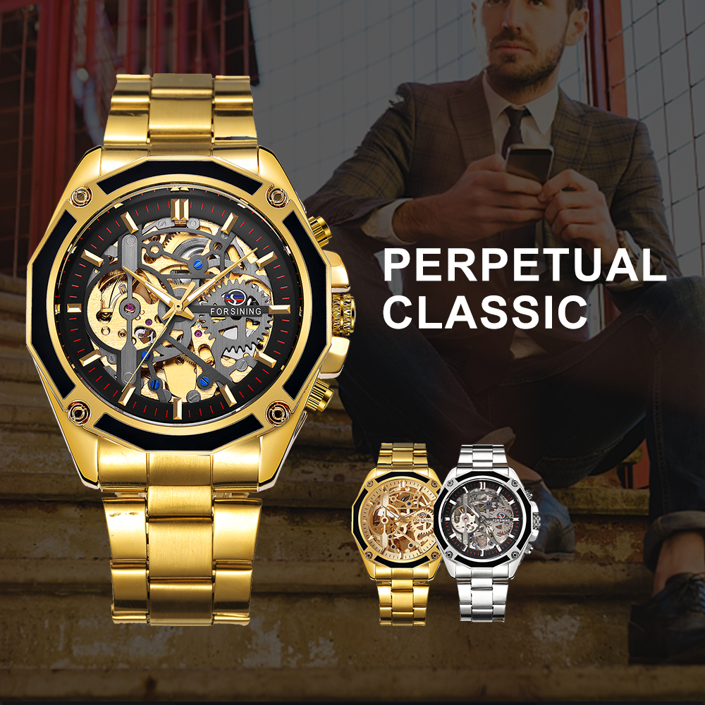 0ba2bf4f8 FORSINING Mens Automatic Watch with Skeleton Dial - Esoteric ...