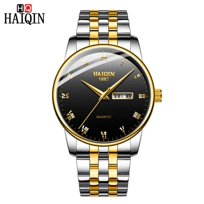 543f45f3a29d ... HAIQIN Gold Men s watches Fashion Mens watches top brand luxury Sport  Military quartz wrist watch men