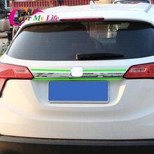 1 шт. Автомобильный задний бампер накладка наклейка для Honda HR-V HRV Vezel- Автомобильный задний логотип декоративная крышка наклейка s Аксессуары